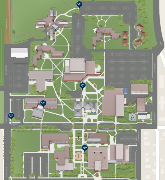 Campus Map: Emergency Phones