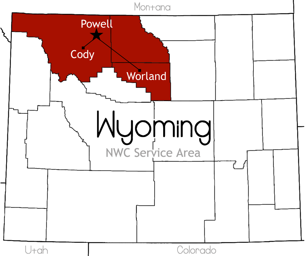 NWC Service Area Map